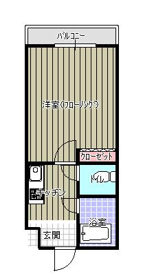 FLAT1 仲江 間取り