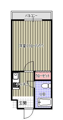 FLAT3 花村(横田) 間取り